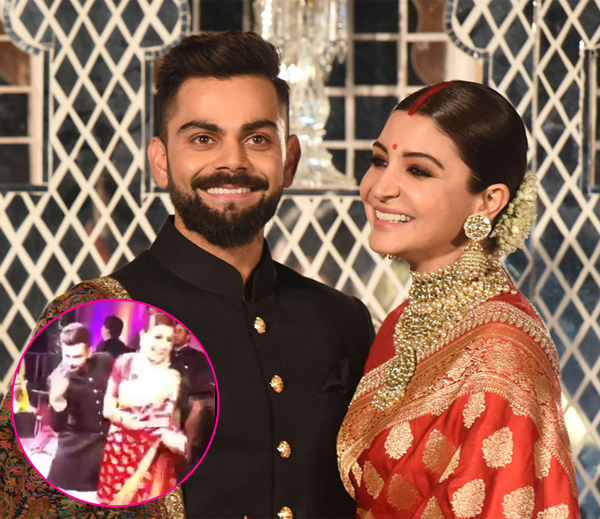 Anushka, Virat hit the dance floor at their wedding reception