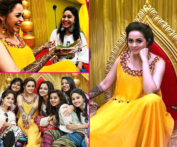 Mehendi Ceremony Look : Inside video] bhavana looks like the brightest ray of sunshine at