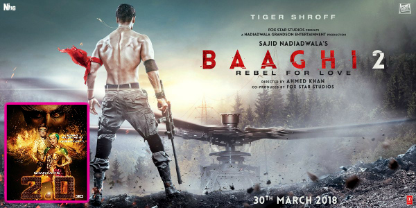 Tiger Shroff's Baaghi 2 avoids clash with Rajinikanth's 2.0, prepones release to March 30