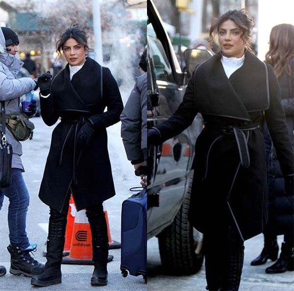 Priyanka Chopra starts shooting for Quantico looking smokin' hot during chilly winters – view pics
