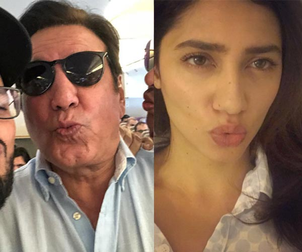 Mahira Khan reacts to viral video in which she winces away from Javed Sheikh's kiss