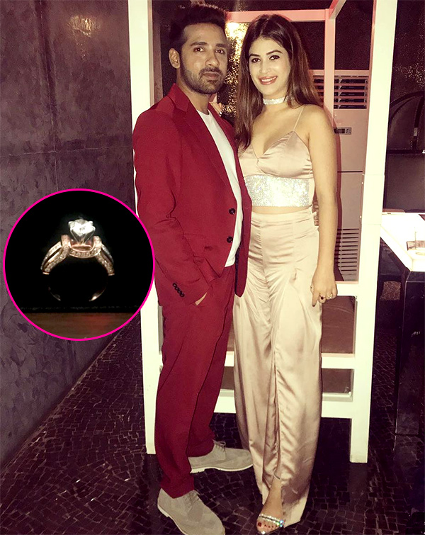 Puneesh Sharma puts a ring on Bandgi Kalra's finger; Is marriage on the cards?