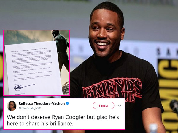 Twitteratis shower Black Panther director Ryan Coogler with love over his heartfelt letter