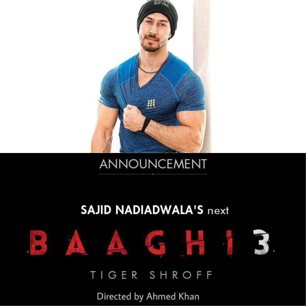 Baaghi 3 announced ahead of Baaghi 2 release