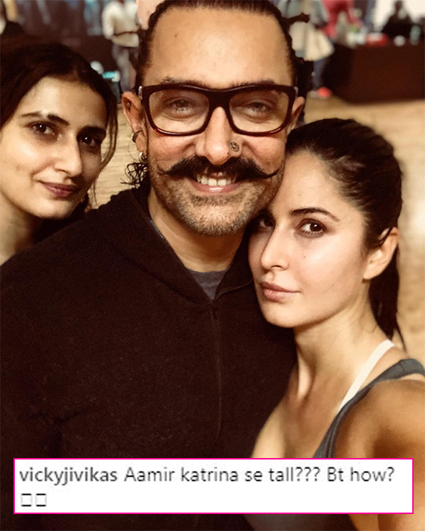 Katrina Kaif clicks a picture on the sets of Thugs Of Hindostan and Aamir Khan gets trolled – view pics