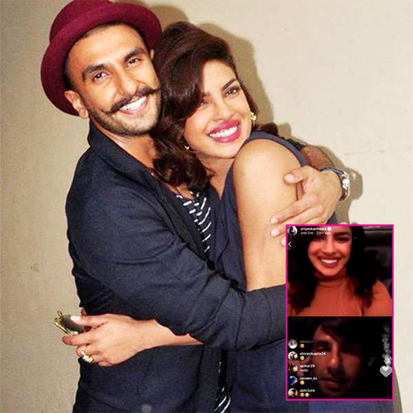 Priyanka Chopra Interacts With Her Fans And Ranveer Singh During Live Chat