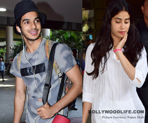 Dhadak star cast Janhvi Kapoor and Ishaan Khatter spotted at airport