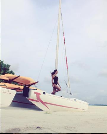 Disha Patani makes summer hotter by scorching in a black monokini – view pics!