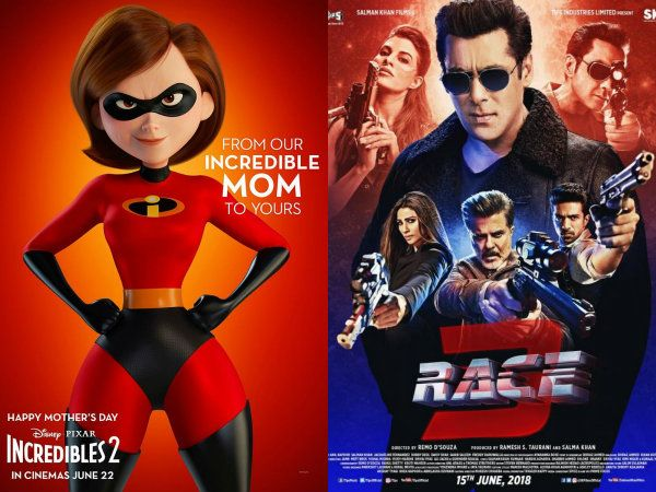 Incredibles 2 avoid clash with Salman Khan's Race 3, to now release on June 22