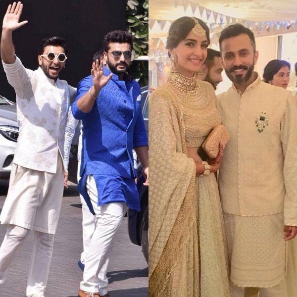 Sonam Kapoor wedding: Arjun Kapoor and Ranveer Singh's ...