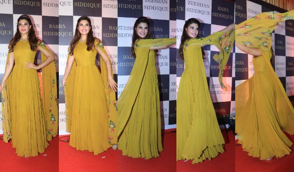 Jacqueline Fernandez shows us how to twirl with our sleeves at Baba Siddiqui's 2018 Iftaar bash – view pics!