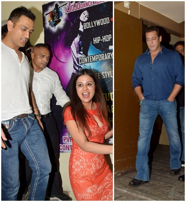 Race 3 special screening: MS Dhoni and his wife join Salman Khan to watch the action-packed entertainer