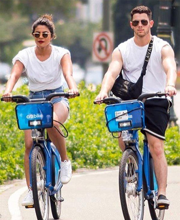 Priyanka Chopra and Nick Jonas go cycling on the streets of New York – view pics