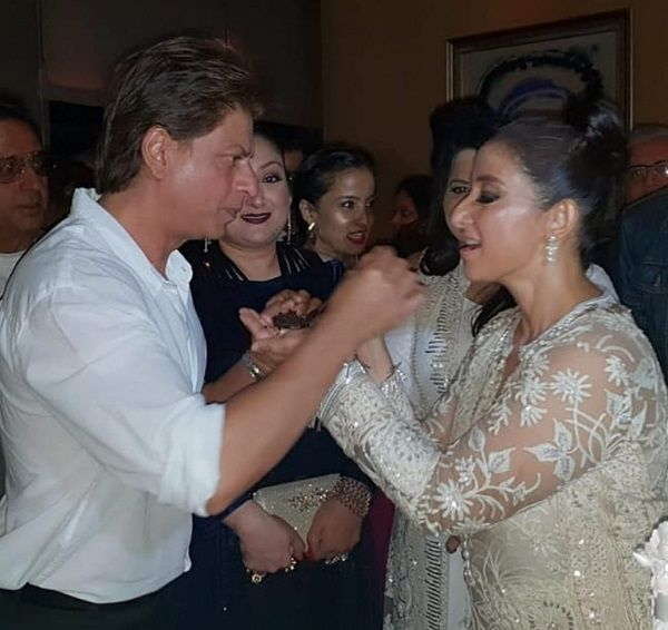 Rekha, Shah Rukh Khan, Maanyata At Manisha Koirala's White-Themed Birthday Party