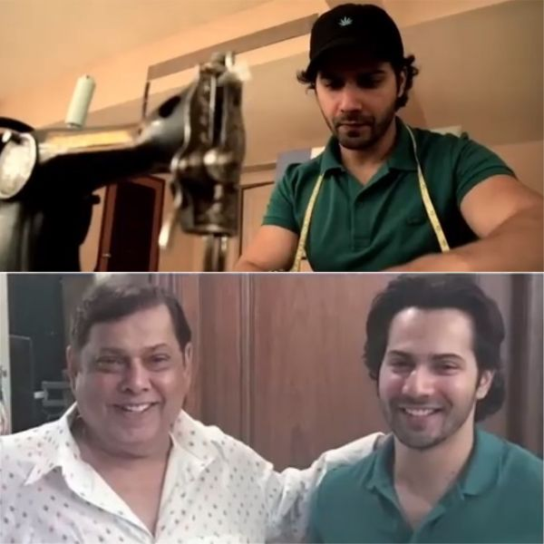 Varun Dhawan stitches up a special Birthday present for his papa David Dhawan – watch video