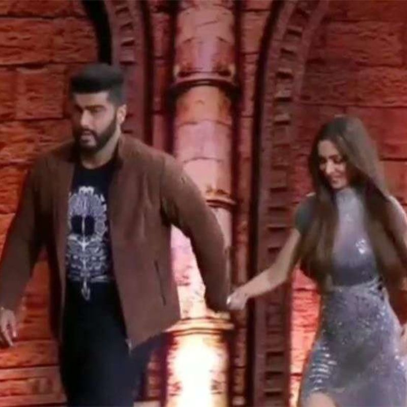 Image result for malaika arora hold arjun kapoor hand in india got talent
