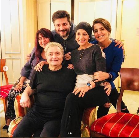 Sonali Bendre and Priyanka Chopra meet Rishi Kapoor in NY