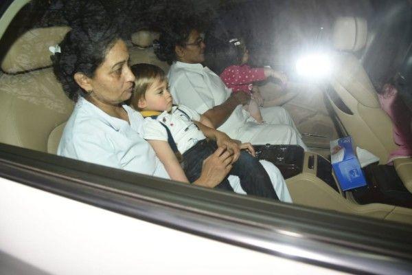 [HQ Pics] Karan Johar's twins, Soha Ali Khan, Kajol and others arrive for Rani Mukerji's daughter Adira's birthday