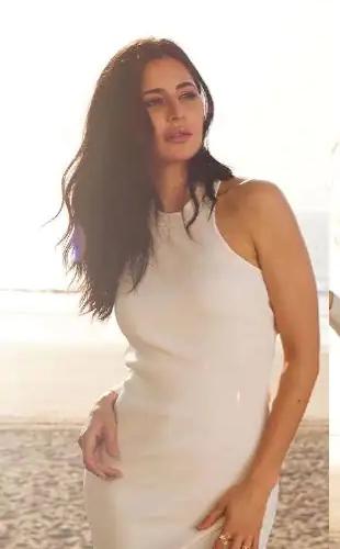 Katrina's simple white dress is very pricey!