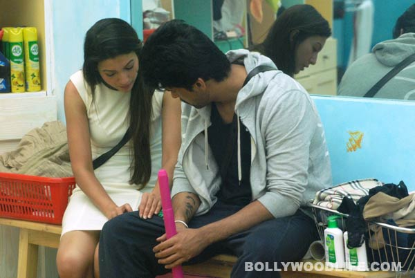 Bigg Boss 7 diaries day 92: Kushal Tandon and Gauahar Khan locked in the store room. View pics!
