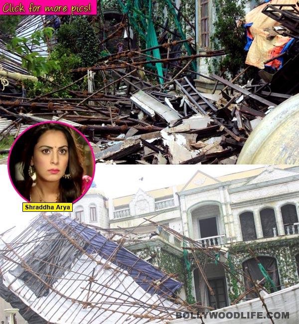 Shraddha Arya's Tumhari Pakhi set comes crashing down