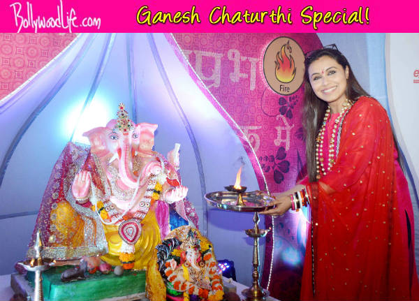 Ganesh Chaturthi 2014: Rani Mukerji seeks blessings from Lord Ganesha - view pics!