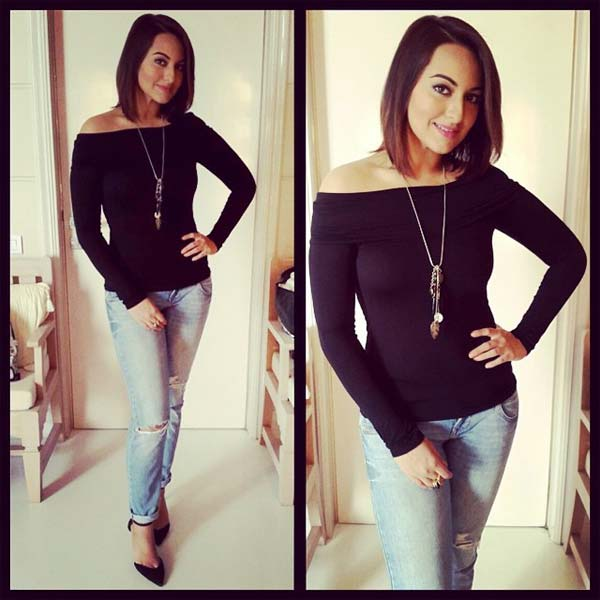 Image result for sonakshi sinha shouldier photos