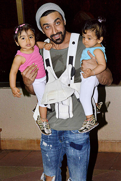 Aashish Chaudhary And Wife Sanjay Dutt's...