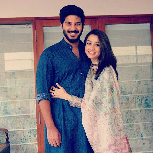 Dulquer salmaan 39 s anniversary message for his wife amal for K muraleedharan family photo