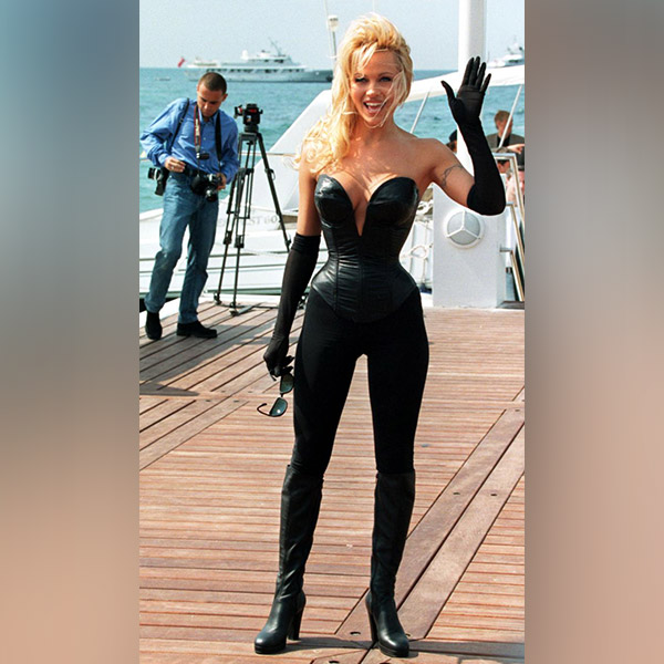 Pamela Andersons Sexy Costume At Cannes In 1995 Hot